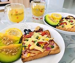超简单美味早餐~土司披萨的做法