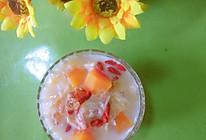 桃胶银耳木瓜炖奶的做法