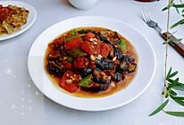 酱烧茄茄青椒蒜的做法