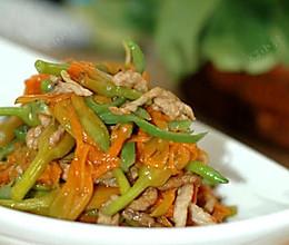 鲜黄花炒肉丝的做法