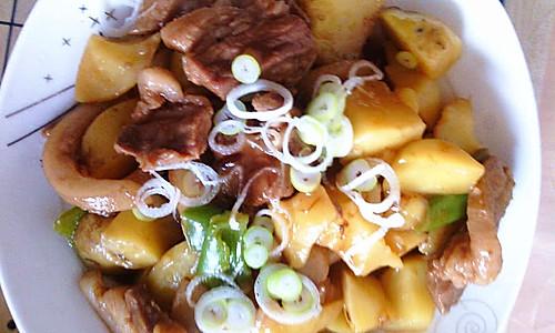 土豆青椒烧肉的做法