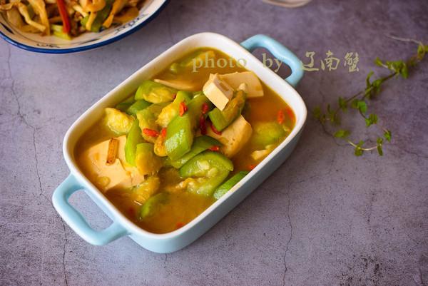 丝瓜烧豆腐的做法
