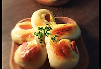 咸味花式香肠面包#早餐首选#的做法