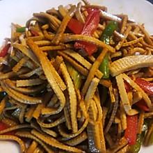 青红椒炒豆腐丝
