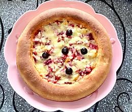 像面包一样松软的水果披萨的做法