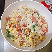 火腿鸡蛋炒饭的做法图解8