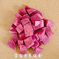 核桃紫薯银耳粥的做法图解4