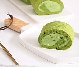 抹茶奶油蛋糕卷,一抹,倾心的做法