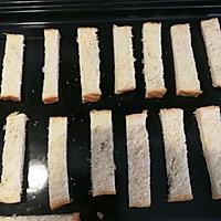 #带着零食去旅行!#香烤杏仁片土司条的做法图解2