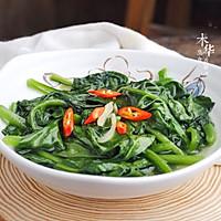 #花10分钟,做一道菜!#清炒木耳菜的做法图解7