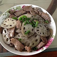 莲藕炒肉片(快手菜)