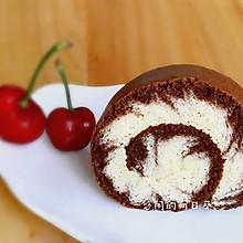 可可棉花糖版旋风蛋糕卷