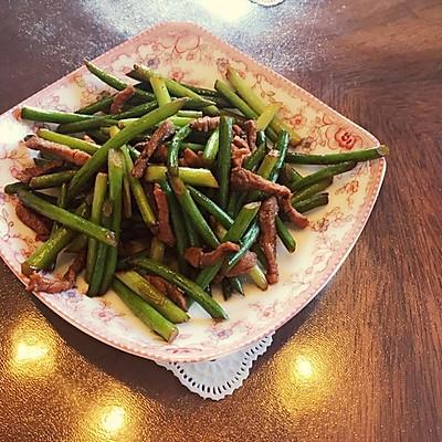 家常蒜苔炒肉丝