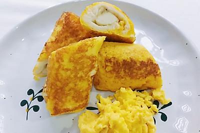 十分钟搞定超快手早餐香蕉吐司卷