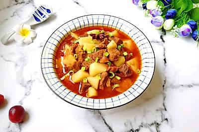 西红柿土豆烧牛肉