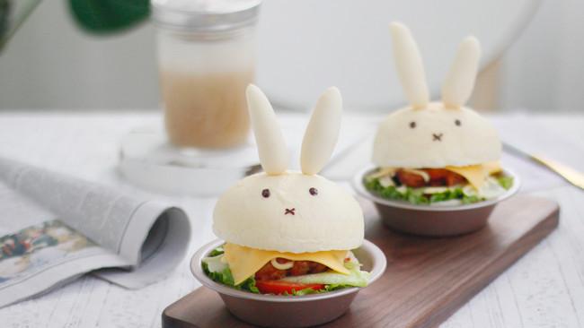 #肉食者联盟# 小兔子鸡腿汉堡的做法