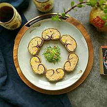 #春天肉菜这样吃#玉米马蹄如意卷
