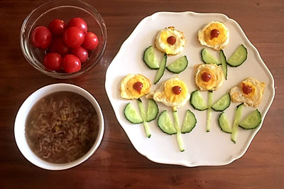 儿童早餐—小花煎蛋
