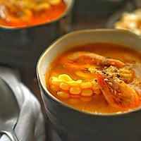 南瓜甜虾浓玉米浓汤