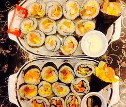 正 反 手卷寿司的做法