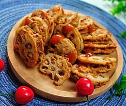 #憋在家里吃什么#这样吃莲藕还怕不好吃?酥炸藕夹的做法