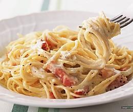 奶油培根意大利面的做法