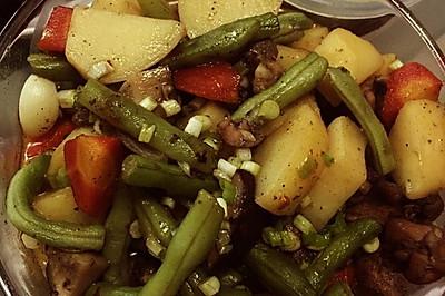 黑胡椒鸡腿炖土豆