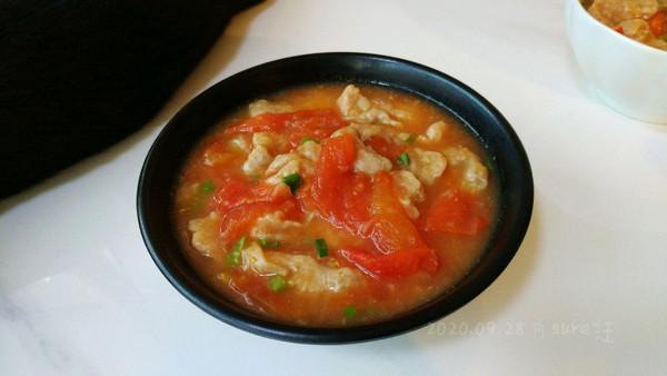 无油番茄滑肉汤的做法