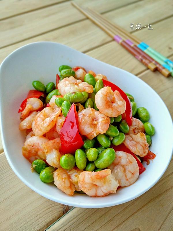 毛豆炒虾仁的做法