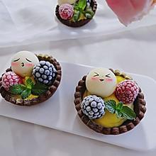 #豆果10周年生日快乐#芒果冰淇淋挞