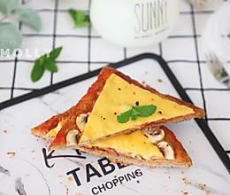 #精品菜谱挑战赛#免烤吐司披萨双拼的做法
