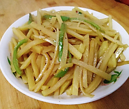 青椒土豆丝丝的做法