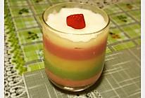 彩虹牛奶冻的做法