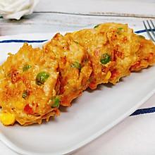减肥餐必备!低脂时蔬鸡肉饼,好吃不长肉!