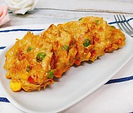 减肥餐必备!低脂时蔬鸡肉饼,好吃不长肉!的做法