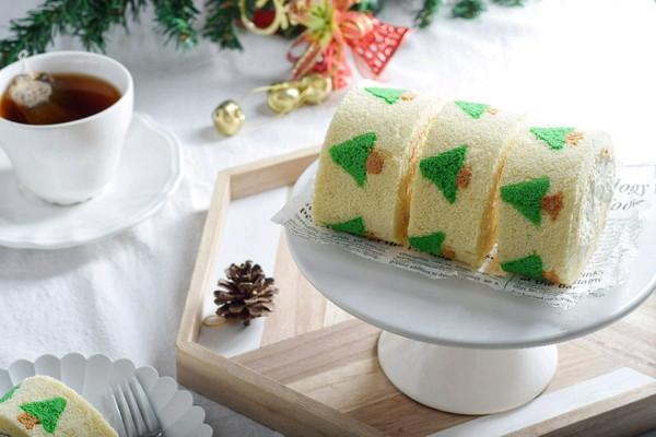 圣诞树蛋糕卷的做法