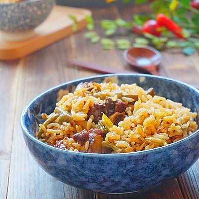 豆角排骨饭(出锅巴诀窍)