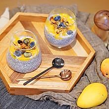 健康早餐|养眼好吃的芒果奇亚籽牛奶布丁#硬核菜谱制作人#