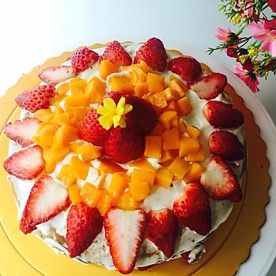 水果裸蛋糕-蛋糕预伴粉版
