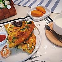 【时蔬芝士蛋饼】#美味快手菜#