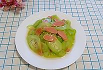 黄瓜炒火腿肠(快手菜)的做法
