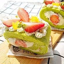 草莓奶油蛋糕卷#带着美食去踏青#