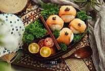 烟熏三文鱼寿司便当的做法