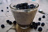 奇亚籽蓝莓酸奶昔的做法