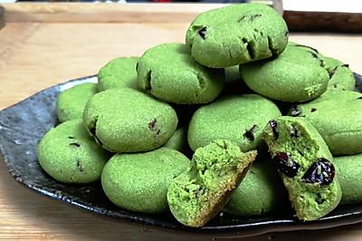 抹茶蔓越莓小酥饼,简单零失误的配方,你会爱上的小点心。