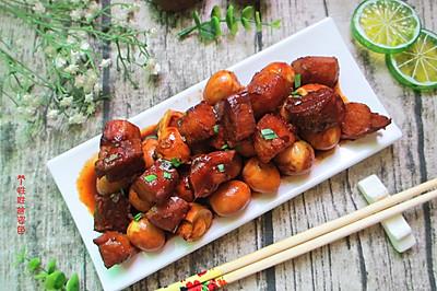 秘制鹌鹑蛋红烧肉