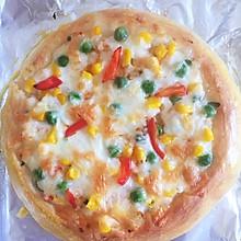虾仁青豆玉米比萨