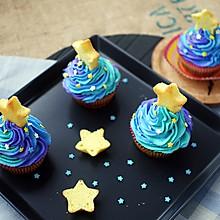 梵高的星空cupcake#不思烤就很好#老板R015烤箱试用