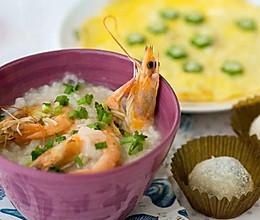 春节也要小清新--鲜虾粥的做法
