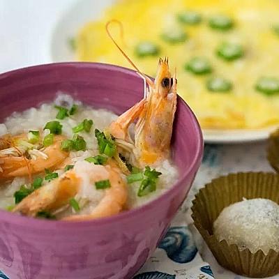春节也要小清新--鲜虾粥